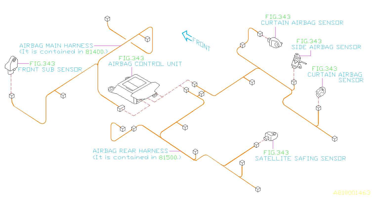 2017 Subaru Wrx Wiring Harness   Rear   Main  Electrical